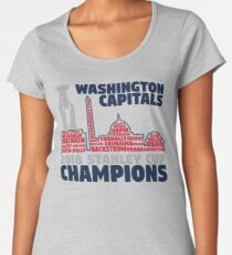Washington Capitals 2018 Stanley Cup Champions Roster in City Skyline Women's Premium T-Shirt