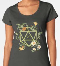 Polyhedral D20 Dice Tabletop RPG Green Thumb Women's Premium T-Shirt