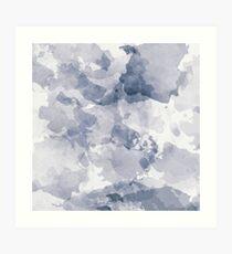 BLUE WATERCOLOR #minimal #marble #design #kirovair #decor #buyart #blue #design #elements Art Print