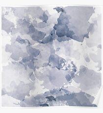 BLUE WATERCOLOR #minimal #marble #design #kirovair #decor #buyart #blue #design #elements Poster