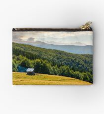 pasture and shed on the hillside Studio Pouch