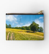 mountain road uphill along the forest Studio Pouch