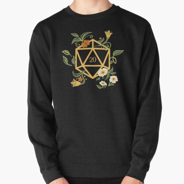 Plant Lovers Polyhedral D20 Dice Tabletop RPG Pullover Sweatshirt