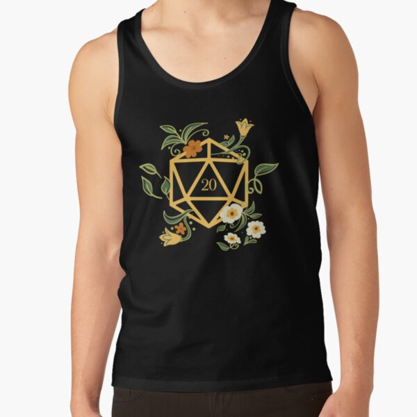 Plant Lovers Polyhedral D20 Dice Tabletop RPG Tank Top