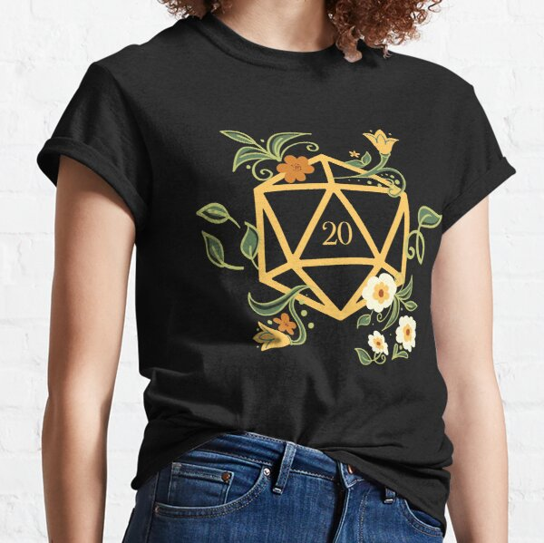 Plant Lovers Polyhedral D20 Dice Tabletop RPG Classic T-Shirt