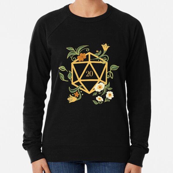 Plant Lovers Polyhedral D20 Dice Tabletop RPG Lightweight Sweatshirt