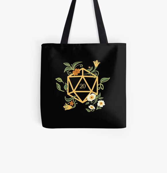 Plant Lovers Polyhedral D20 Dice Tabletop RPG All Over Print Tote Bag