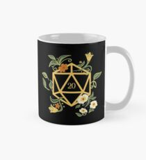 Plant Lovers Polyhedral D20 Dice Tabletop RPG Mug
