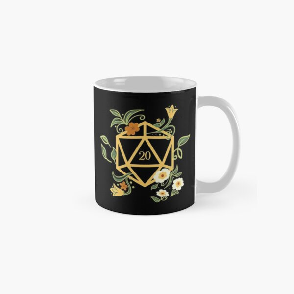 Plant Lovers Polyhedral D20 Dice Tabletop RPG Classic Mug