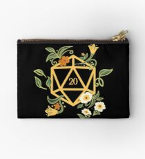 Plant Lovers Polyhedral D20 Dice Tabletop RPG Zipper Pouch