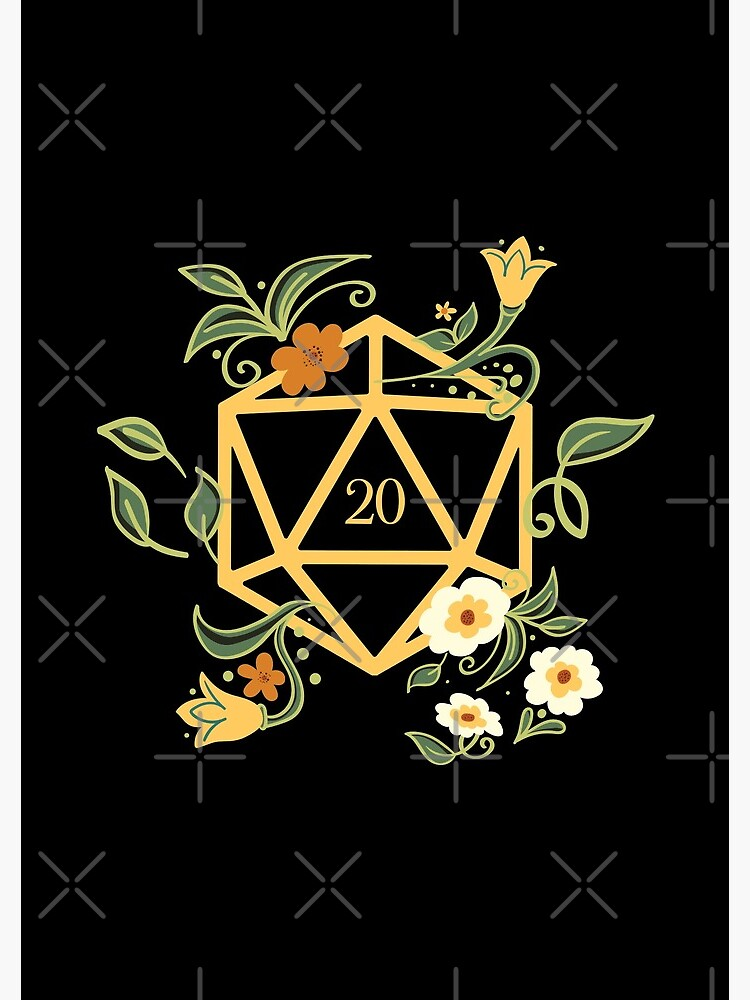 Plant Lovers Polyhedral D20 Dice Tabletop RPG by pixeptional