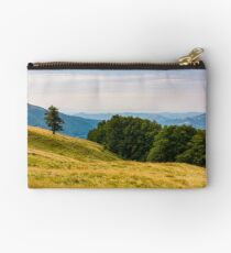 forested hills of Carpathian mountains Studio Pouch
