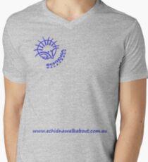 Echidna Walkabout logo blue horizontal text Men's V-Neck T-Shirt