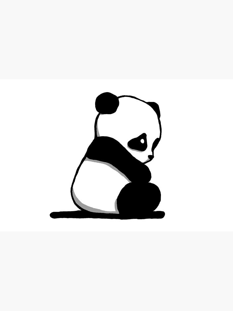 Skin Adhesive D Ordinateur Triste Panda Dessin Par Nijess Redbubble