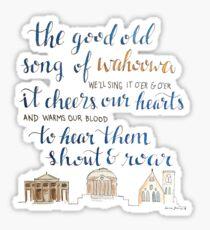 Good Old Song of Wahoowa - UVA  Sticker