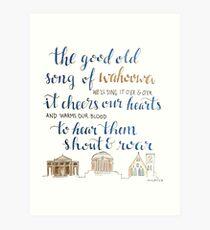 Good Old Song of Wahoowa - UVA  Art Print