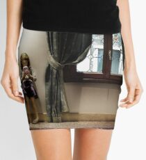 Venice curtains vs hand held video game Mini Skirt