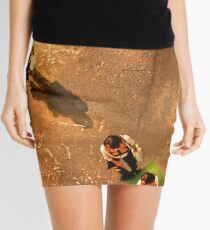 Green Triangle Mini Skirt