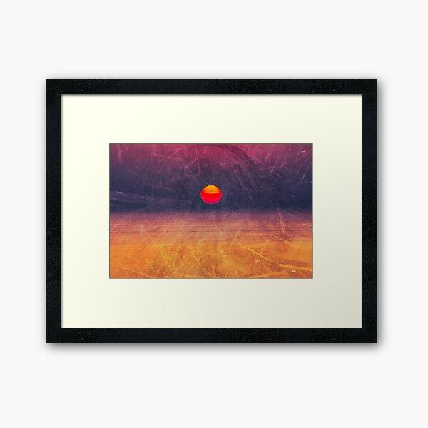 purple digital sunrise background Framed Art Print