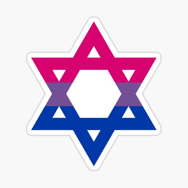 Bisexual Star of David Sticker
