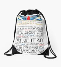 Lessons That The Greatest Showman Taught Me Drawstring Bag