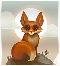 Rosy Red Fox Poster