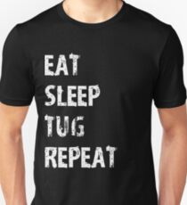 b7515206a3 Eat Sleep Tug Repeat T-Shirt Gift For Tug Boat Cute Funny Captain Crew T