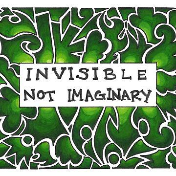 Invisible Not Imaginary (green) by Jezunya