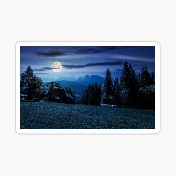 beautiful landscape of Tatra Mountains at night Sticker