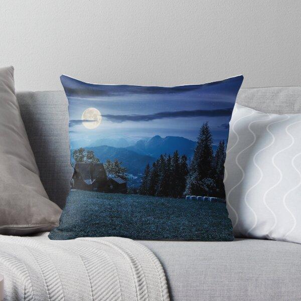 beautiful landscape of Tatra Mountains at night Throw Pillow