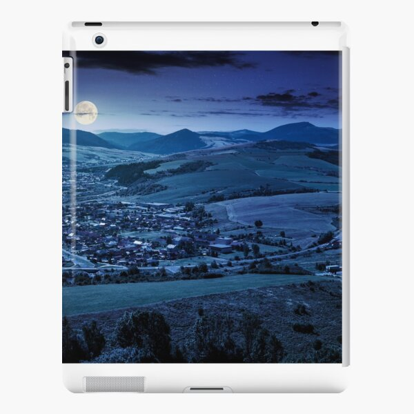 stara lubovna town in slovakia at night iPad Snap Case