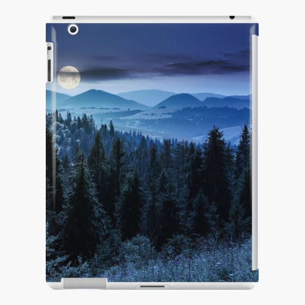 spruce forest in mountains at night iPad Snap Case