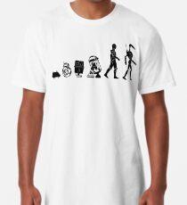 Droids Evolution T Shirt, Robots Freaky Geeky Gift Ideas Long T-Shirt