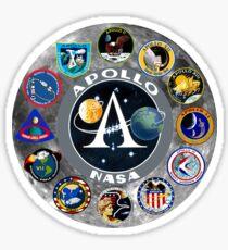 Pegatina Apollo Mission Composite Logo