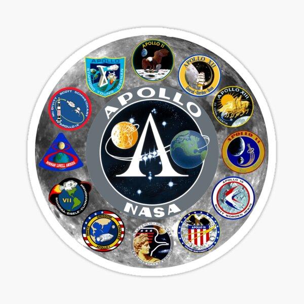 Apollo Mission Composite Logo Sticker