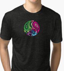 Paisley Peace Black Tri-blend T-Shirt