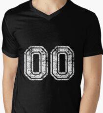 Sport Team Jersey 00 T Shirt Football Soccer Baseball Hockey Double Basketball Double Zero  Men's V-Neck T-Shirt