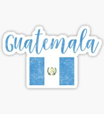 Guatemala Flag Vintage Handwriting Style Sticker