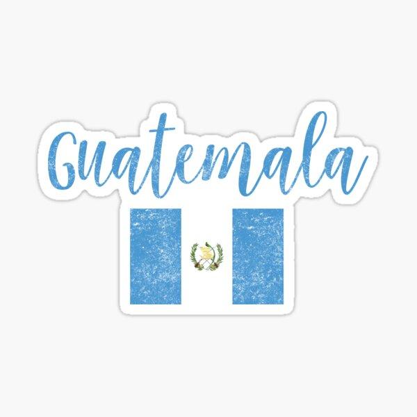 Estilo de escritura vintage de la bandera de Guatemala Pegatina