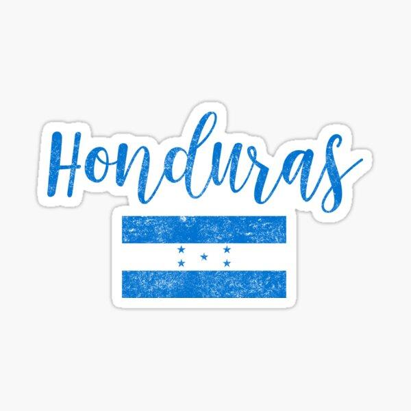 Estilo de escritura de la vendimia de la bandera de Honduras Pegatina