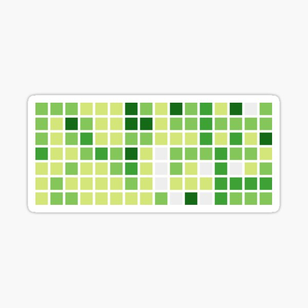 Github Contributions (without text) Sticker