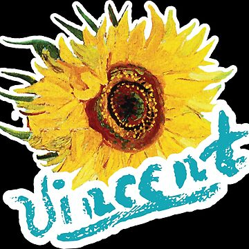 Vincent Van Gogh Signature Sunflower  by creationseven