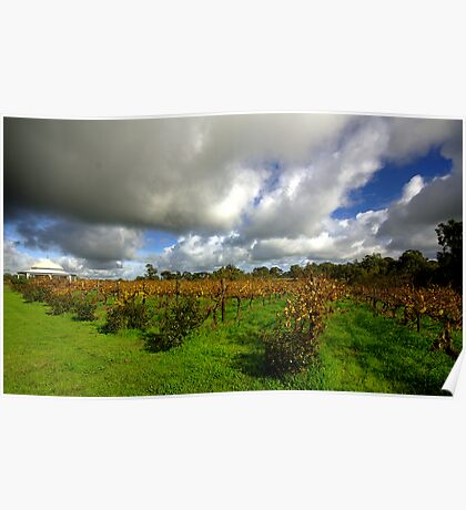 Storm clouds over Middlebrook Winery Poster