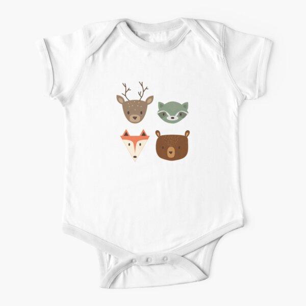 Woodland Creatures Short Sleeve Baby One-Piece