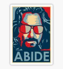 The Dude Abides T Shirt, Abide, Yes We Can Obama Parody Original Design Sticker