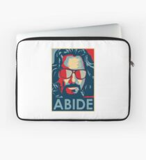 The Dude Abides T Shirt, Abide, Yes We Can Obama Parody Original Design Laptop Sleeve