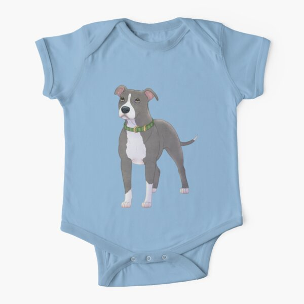 American Pitbull Terrier Short Sleeve Baby One-Piece
