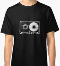 Black and White Retro 80's Cassette -  Vintage Eighties Technology Art Print Wall Decor from 1980's  Classic T-Shirt