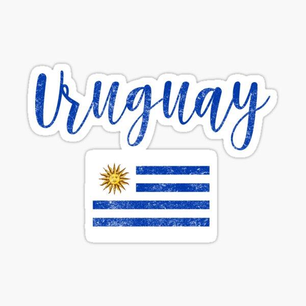 Estilo de escritura de la vendimia de la bandera de Uruguay Pegatina