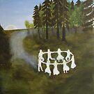 Dancing Elves at Dusk by Linda Ursin
